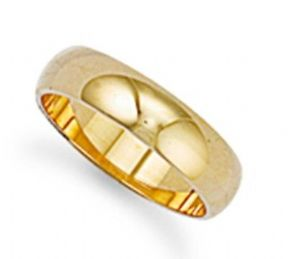 6mm thick 9ct Gold Ultra Lightweight D shape profile Wedding Ring 3g Sizes I-Z